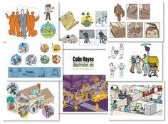 Illustration portfolio of Colin Hayes