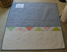 The back of baby quilt for Bridget