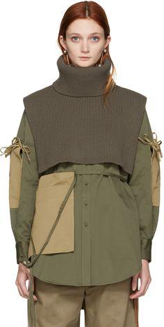 Ports 1961 - Green Wool Turtleneck Collar