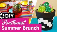 DIY Southwest Summer Brunch | Cactus Rocks | Name Place Holders | Party Ideas | Sea Lemon | #ad #MadeWithMichaels @MichaelsStores