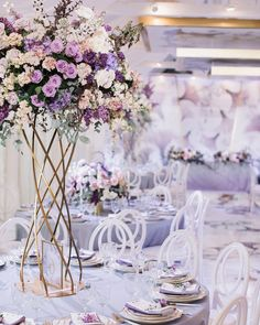 ideas wedding ceremony decorations winter receptions for 2019 Lilac Wedding Themes, Lavender Wedding Theme, Purple Wedding, Wedding Colors, Wedding Flowers, Trendy Wedding, Tall Wedding Centerpieces, Wedding Ceremony Decorations, Floral Centerpieces
