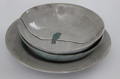 Chocolate Clay items: Pasta & soup bowls with bird on a wire design Pasta Soup, Clay Art, Ceramics, Bird, Chocolate, Tableware, Soup Bowls, Facebook, Design