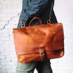 Leather Messenger Bag | Loyal Stricklin