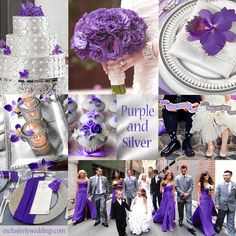 Purple and Silver Wedding Colors