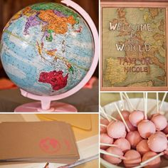 Welcome to the World! A Vintage Map Sip and See