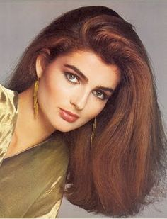 Picture of Eva Voorhis Classic Beauty, Timeless Beauty, Cute Hairstyles, Straight Hairstyles, 1980s Hair, Most Beautiful Faces, Glamour, Famous Models, Great Hair