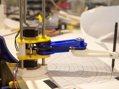 Scara robotic arm by robdobson Scara Robot, Learn Robotics, 3d Printing Machine, 3d Printed Objects, Industrial Robots, Diy Cnc, Robot Arm, Electronics Projects, Hacks Diy