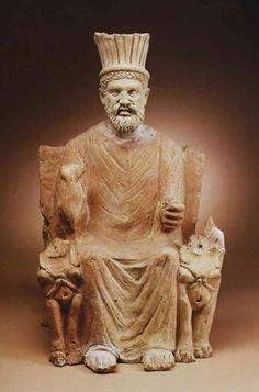 Statue of Baal Hammon; the chief god of Carthage. The National Bardo Museum (Tunis) - Click on the images to visit the Historyteller website.