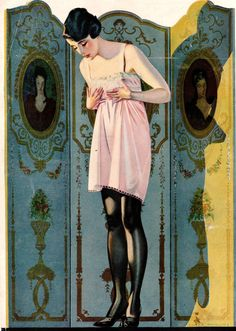 Coles Phillips - illustration from Luxite Hosiery ad (1920)