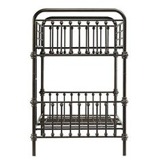 Amazon.com: Kid's Bunk Bed Frame Wrought Iron Cast Metal Vintage Antique Rustic Country Style Bedroom Furniture: Furniture & Decor