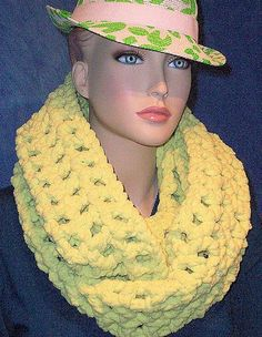 Hey, I found this really awesome Etsy listing at https://www.etsy.com/listing/226318150/lime-green-crochet-infinity-scarf-neon