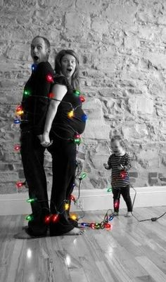 Reversed image of cute Christmas card idea