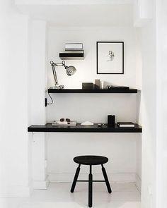 Preto e branco na decoração é uma das combinações mais chiques e modernas (e ao mesmo tempo sóbrias) que se pode ter