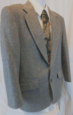 Versini Men Sport Coat 43 R 100% Silk Tweed 3 Button #Versini ...