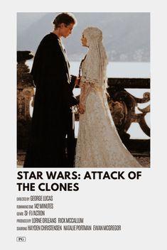 star wars: attack of the clones alternative minimal movie poster Iconic Movie Posters, Minimal Movie Posters, Minimal Poster, Movie Poster Art, Iconic Movies, Poster Wall, Star Wars Film, Star Wars Poster, Movie Prints
