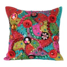 I pinned this Brielle Pillow from the Mardi Gras event at Joss and Main!