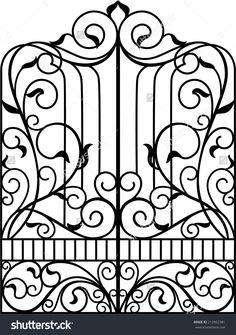 Wrought Iron Gate, Door, Fence