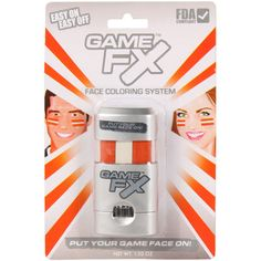 Game FX Face Paint System - Orange/White - $9.99