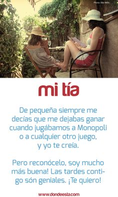 TE QUIERO TÍA 15 de mayo: Día Internacional de la Familia www.dondeesta.com