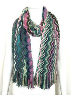 Missoni Signature Pattern Wool Blend Scarf / Multi / RRP: £140.00
