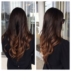 Ombre for brunettes #hairbylindsaybanks #bombre #brunette #brownombre #colourbylindsay