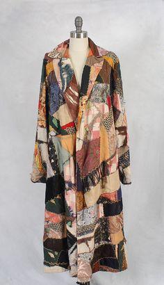 20s coat / 1920s patchwork kaleidoscape coat. $ 168.00, via Etsy.