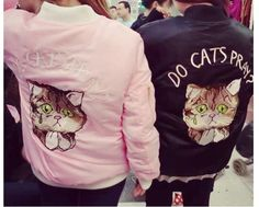 Harajuku+Lovely+kitty+cat+claws+Embroidered+Baseball+padded+jacket+Coat+#17+#BasicCoat