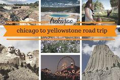 An Epic Roadtrip from Chicago to Yellowstone with stops in Iowa, Nebraska, South Dakota, Montana, Wyoming.