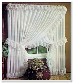 Lovely Princess Curtains Design Ideas For Happy Little Girl - Houses interior designs Ruffle Curtains, Cute Curtains, Curtains And Draperies, Beautiful Curtains, Country Curtains, Vintage Curtains, Valance, Curtain Styles, Curtain Designs