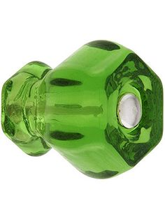 Medium Hexagonal Glass Cabinet Knob With Nickel Bolt | House of Antique Hardware