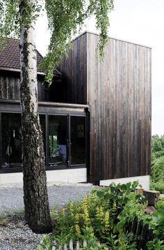 Ankersvingen Annex Burnt Cedar Addition in Jar, Norway by Thor Olav Solbjør of SAAHA