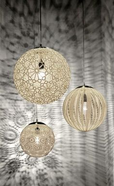 Handcrafted in Mexico, Liz Lamps are individually hand-crocheted to achieve this amazing patterns. The result? A delicate-looking, airy lamp capable of...