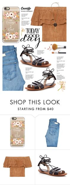 """""""Casetify"""" by yexyka ❤ liked on Polyvore featuring Casetify, AG Adriano Goldschmied, French Connection and Lucky Brand"""