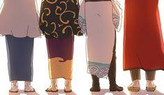 Katsura, Shinsuke, Gin, and Sakamoto <3