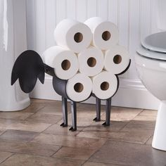 "Every time you use the TP, it'll be like you're shaving the sheep, lol.Promising review: ""This my second purchase of this product. It is so cute and sturdy that I am putting one in each bathroom! I was even able to put it together myself. Hangs on wall or stands alone. You will love it. A bit pricey for a toilet paper holder, but well worth the investment."" —ranford2Price: $44.99 #BathroomToilets"
