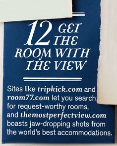 #12: Get the Room with the View