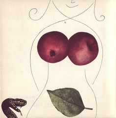 Bohumil Stepan: Illustration for Zelena Kobyla (The Green Mare)by Marcel Aymé, Prague, 1966