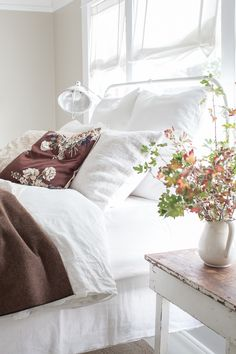 We are so excited to have a good friend join us as a contributor on our blog as of today!! Meet Candace...a woman who embraces h... Cozy Bedroom, White Bedroom, Dream Bedroom, Fall Bedroom, Bedroom Decor, White Cottage, Cozy Cottage, Home Furniture, Online Furniture