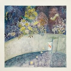 the art room plant: Cate Edwards II  Several walled garden paintings
