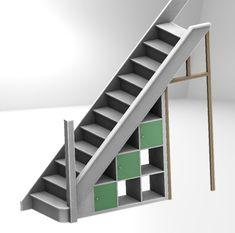 Ikea Expedit hack: under-stairs storage – Barnacle's Choice Under Stairs Storage Ikea, Staircase Storage, Ikea Storage, Stair Storage, Staircase Design, Storage Area, Stair Design, Basement Storage, Closet Storage