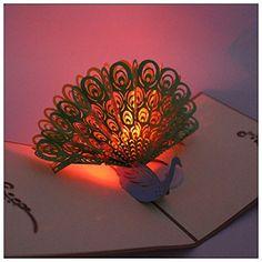 New 3D Pop Up Greeting Card Axiba Hand Made Light Mus
