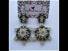 6 point star with Chaton ~ Seed Bead Tutorials