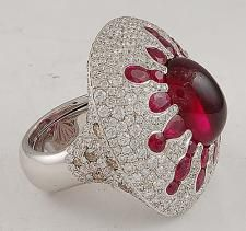 SALAVETTI Diamond  Rubylite Ring - Yafa Jewelry