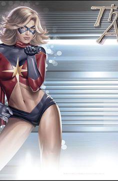 Ms. Marvel by Greg Horn @ http://groups.google.com/group/Greg-Horn