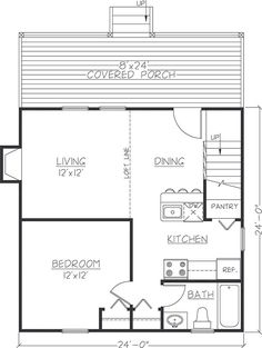 24 x 36 cabin plans with loft - Bing Images