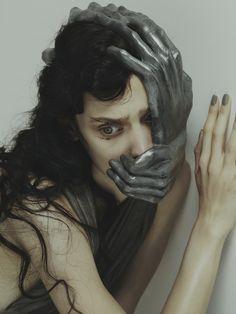 "redlipstickresurrected: ""Nhu Xuan Hua (French, b. Paris, France, based UK) - Fear - Dress: Yiqing Yin, Mask: Caroline Gladwin, Vogue, Italy """