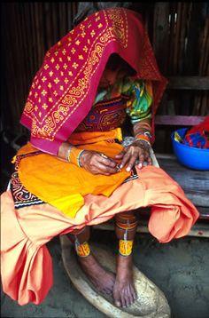 Guna Yala woman making a mola.