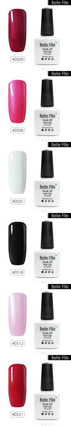 BELLE FELLE 10ml Color UV Gel Nail Polish clear coat salon nail gel polish DIY nail art Fashion Semi Permanent fingernail polish