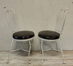 Black and white bistro chairs Bistro Chairs, Bar Stools, Black And White, Antiques, Furniture, Vintage, Home Decor, Bar Stool Sports, Antiquities