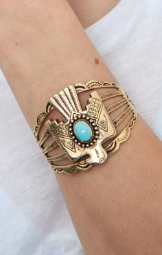 Thunderbird turquoise cuff